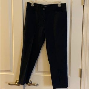 Navy blue cropped work pants